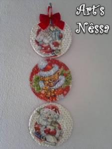 Enfeite natalino com Cd´s usados 2