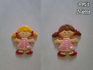 Bonecas biscuit mudança cor cabelo