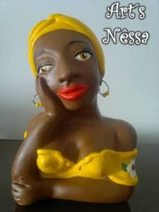 Namoradeira turbante pequena (amarela) 1